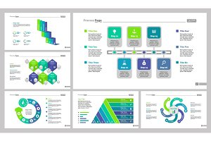 Six Marketing Slide Templates Set