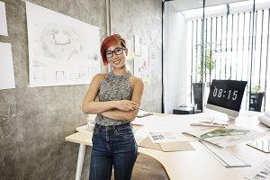 Asian architect woman