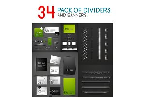 Mega collection of paper banners and dividers