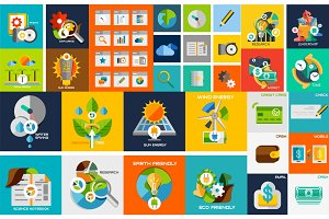 Vector flat design elements, web Design elements, buttons, icons