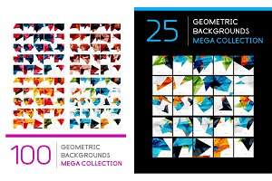 Set of geometric abstract backgrounds