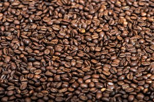 Coffee beans background texture