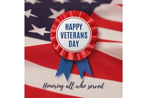 Happy veterans Day patriotic background.
