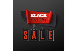 Black Friday Sale, abstract banner on black background.