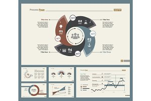 Six Statistics Charts Slide Templates Set