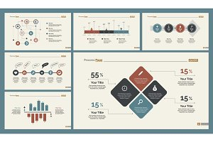 Six Statistics Diagrams Templates Set
