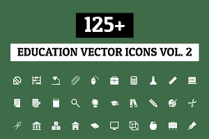 125+ Education Vector Icons - Vol 2