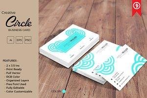 Creative Circle Business Card