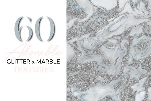 Adorable Glitter x Marble Textures