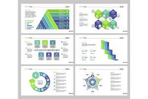 Six Teamwork Slide Templates Set