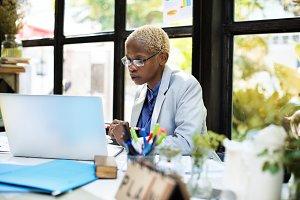 Businesswoman Laptop Planning