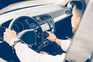 Using automotive navigation system