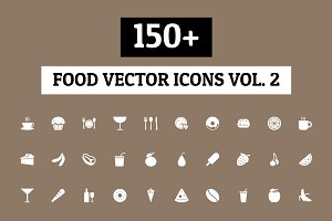 150+ Food Vector Icons - Vol 2