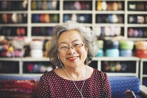 asian senior woman lifestyle