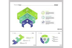Three Business Slide Templates Set