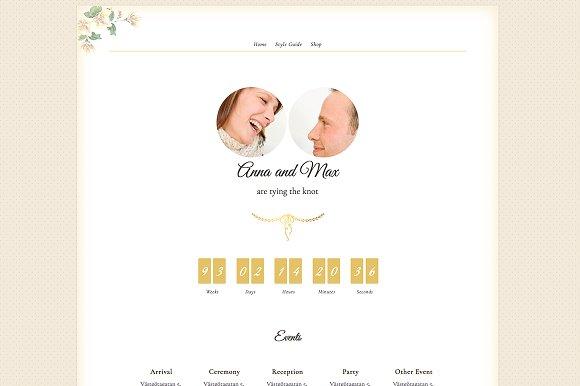 Newlyweds Wedding Blog Shop Theme