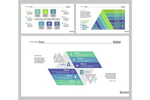 Three Marketing Slide Templates Set