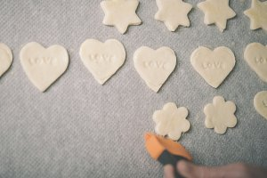 baking Valentine's sweet heart.