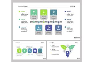 Three Planning Slide Templates Set