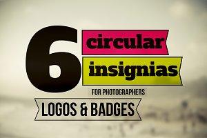 6 Circular Insignia, Logo & Badge