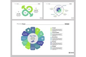 Three Production Slide Templates Set