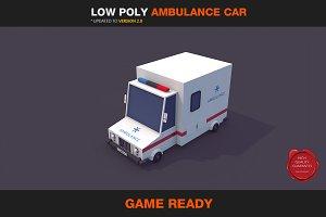 Low Poly Ambulance Car