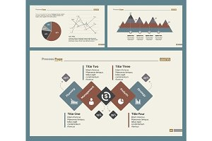 Three Statistics Charts Slide Templates Set