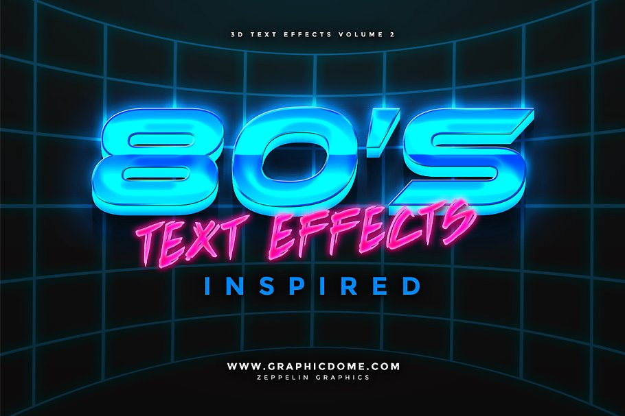 80s Text Effects ~ Photoshop Add-Ons ~ Creative Market