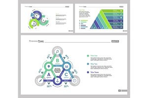 Three Statistics Slide Templates Set