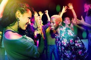 People enjoying in the club