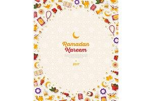 Ramadan Kareem concept vertical banner