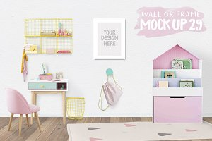 Kids Room Wall/Frame Mock Up 29