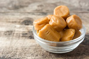 Toffee caramel candies