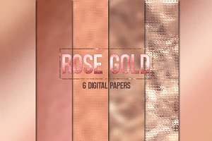 Rose Gold Digital Papers