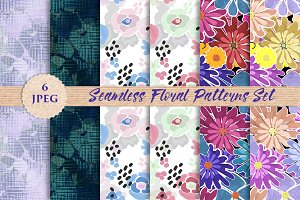 FLORAL seamless paper prints pattern
