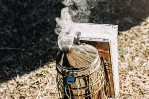 Smoker for collect honey.
