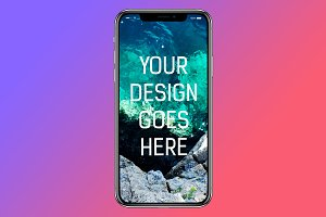 iPhone X Display Mock-up #3