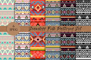 FOLK seamless paper prints pattern