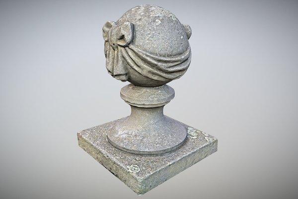 3D Urban: Beatheart Creative Studio - Stone Ball on Pillar