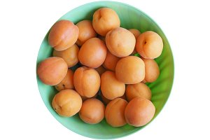 apricot fruit food isolated over white