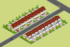 Modern townhouses