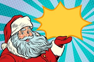 Santa Claus promotinal copy space