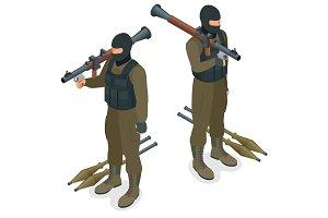 Spec ops police officers SWAT in black uniform