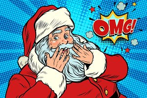 OMG surprise Santa Claus reaction