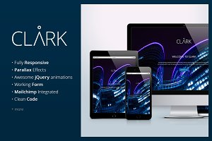 Clark - A corporate landing page