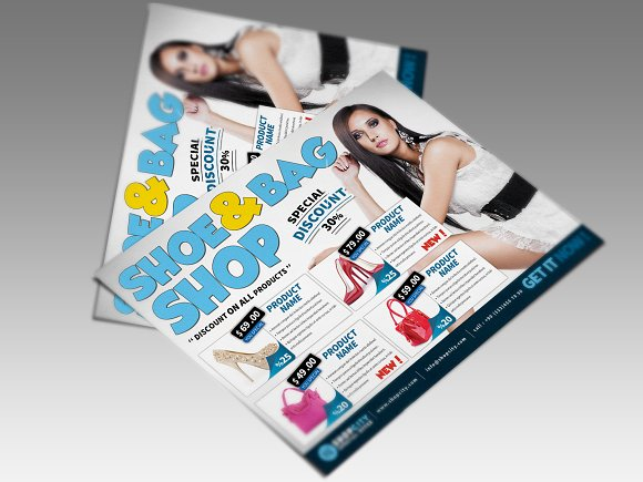 Shopping Gold Flyer in Flyer Templates