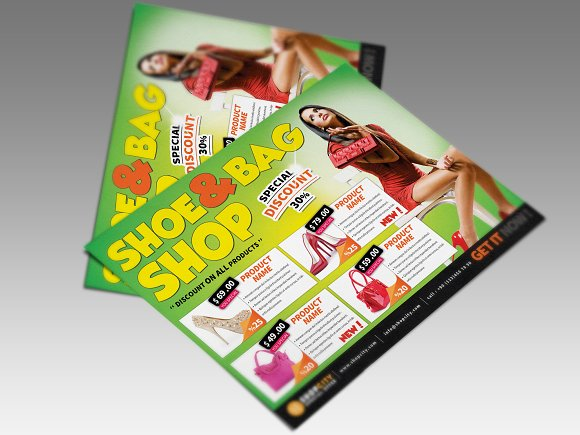 Shopping Gold Flyer in Flyer Templates - product preview 1