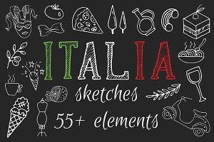 -50% Hand Drawn Italian Symbols