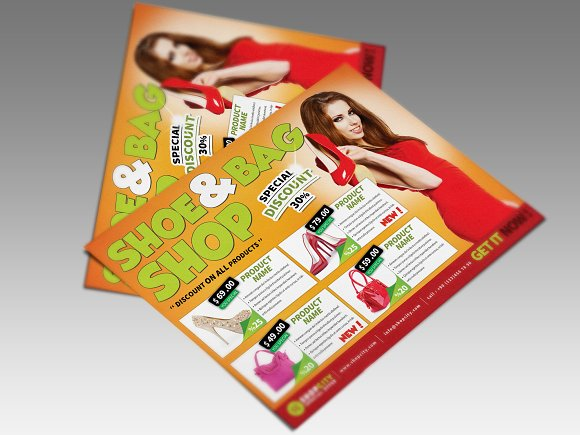 Shopping Gold Flyer in Flyer Templates - product preview 2