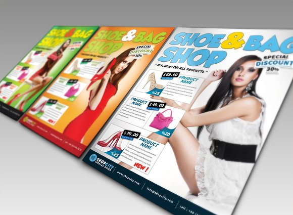 Shopping Gold Flyer in Flyer Templates - product preview 4